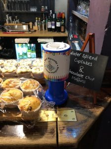 George & Dragon have supported through out the year with having our charity box on bar. Also cake sale